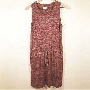 Lou & Grey Maroon Dress, Pockets and Drop Waist